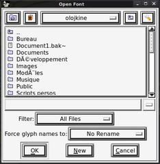 Screenshots of package fontforge