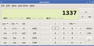 Screenshots of package galculator