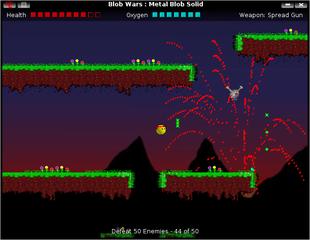 Screenshots of package blobwars
