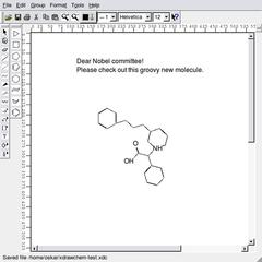 Screenshots of package xdrawchem