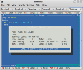 Screenshots of package fp-ide