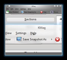 Screenshots of package kmag