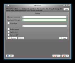 Screenshots of package kmousetool