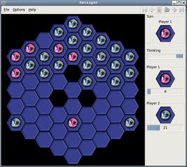 Screenshots of package hexxagon