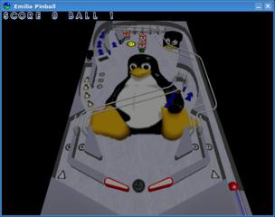 Screenshots of package pinball