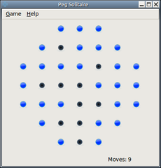 Screenshots of package pegsolitaire