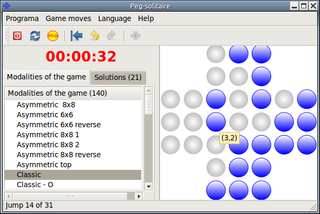 Screenshots of package peg-solitaire