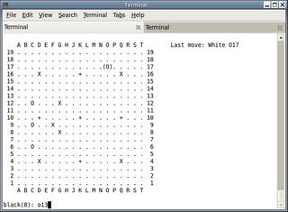 Screenshots of package gnugo