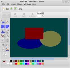 Screenshots of package gpaint