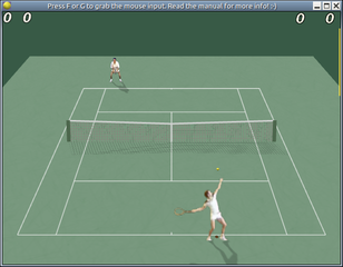 Screenshots of package freetennis