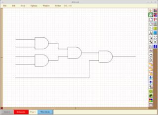 Screenshots of package xcircuit
