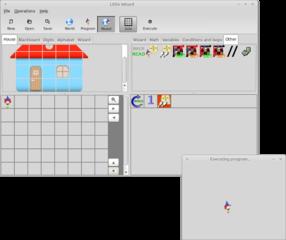 Screenshots of package littlewizard