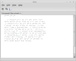 Screenshots of package dots