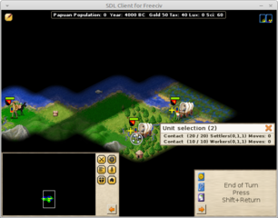 Screenshots of package freeciv-client-sdl