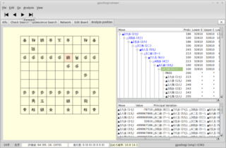 Screenshots of package gpsshogi