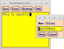 simple postit program on X with I18N support