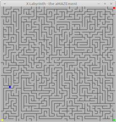 Collect four items from an xmaze using the mouse to move