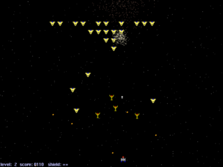 Screenshots of package xgalaga++