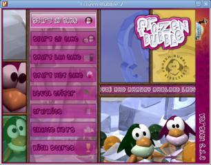 Screenshots of package frozen-bubble