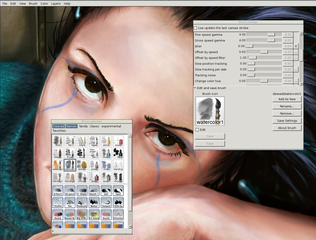 Screenshots of package mypaint