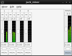 Screenshots of package jack-mixer