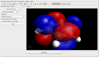 Screenshots of package avogadro