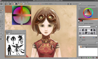 Screenshots of package krita