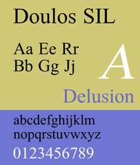 Screenshots of package fonts-sil-doulos