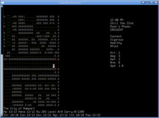 Screenshots of package omega-rpg