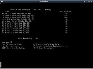 Screenshots of package moria
