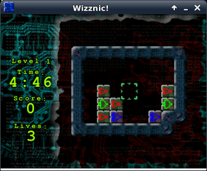 Screenshots of package wizznic