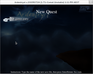 Screenshots of package ardentryst