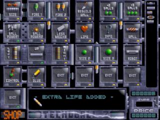 Screenshots of package tecnoballz