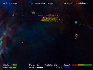 Screenshots of package starfighter