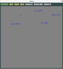 Screenshots of package xletters