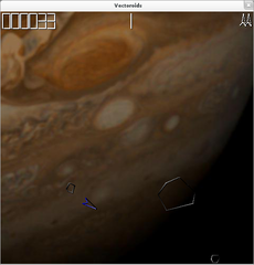 Screenshots of package vectoroids