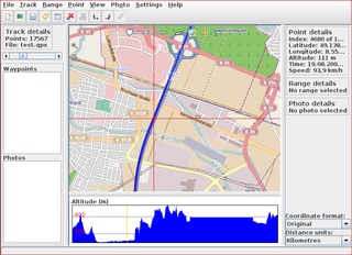visualize, edit, convert and prune GPS data