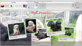 Screenshots of package fotowall