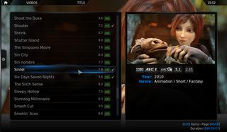 Screenshots of package xbmc