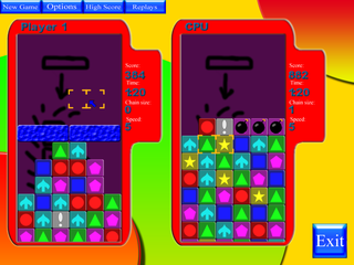 Screenshots of package blockattack