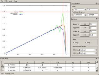 Screenshots of package xyscan