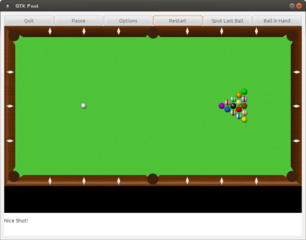 simple pool billiard game written with GTK+