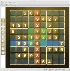 Screenshots of package ksudoku