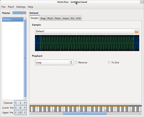 Screenshots of package petri-foo
