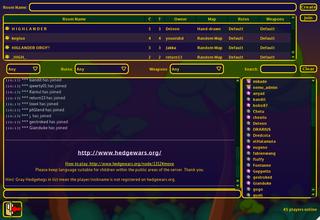 Screenshots of package hedgewars