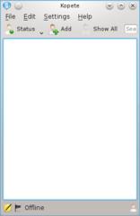 Screenshots of package kopete