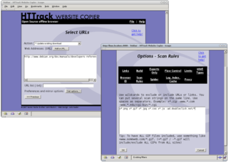 Copy websites to your computer, httrack with a Web interface