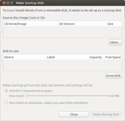create a startup disk using a CD or disc image (for GNOME)