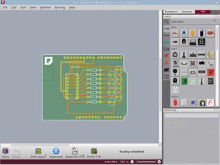 Screenshots of package fritzing