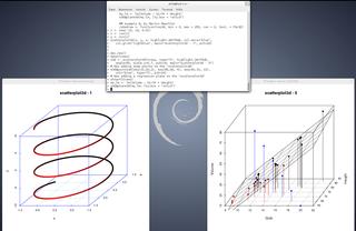 Screenshots of package r-cran-scatterplot3d